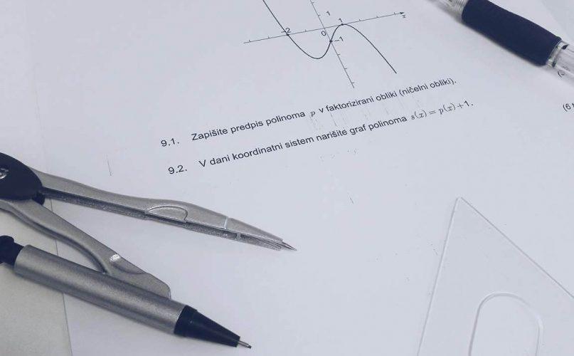 Matura iz matematike - vzorec maturitetna pole